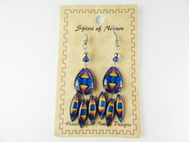 SOUTHWEST STYLE EARRINGS. BLUE