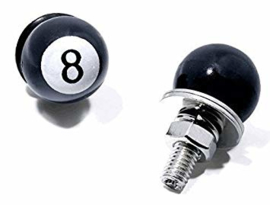 8-BALL LICENSE PLATE FASTENERS