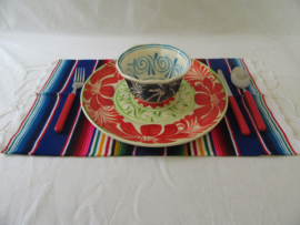 MEXICAN SERAPE PLACEMAT / TAFELMAT. ROOD