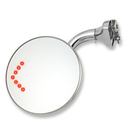 DOOR PEEP MIRROR WITH LED TURN SIGNAL. CLASSIC STYLE