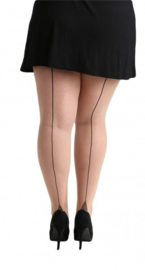 SEAMED TIGHTS BLACK PLUS SIZE