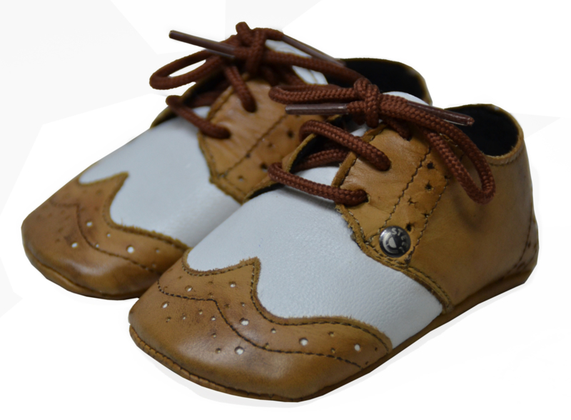 BABY SLOFJES GATSBY BROGUE TAN