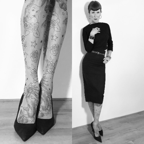 Tattoo Heart Tights Warehouse Retro