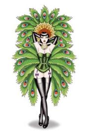 Peacock Lady 26 x 40 cm