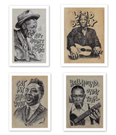 Set of 4 blues prints