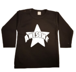 Awesome t-shirt of longsleeve (print een kleur)