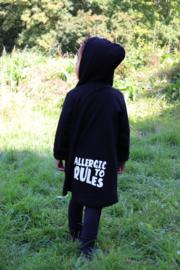 allergic to rules  lang vest zwart