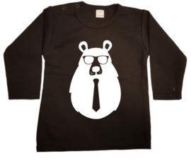 hipster beer shirt zwart maat 62 (korte mouw)