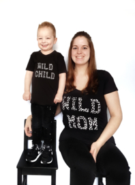 Wild MOM en Wild Child panterprint strijkapllicatie set