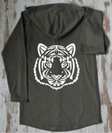 Tribel tijger  lang vest