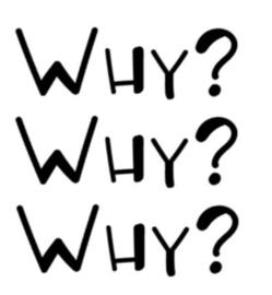Why? why? why? strijkapllicatie