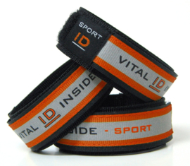 Vital id sport band met reflectie maat s/m rood