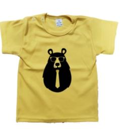 hipster beer shirt geel maat 62