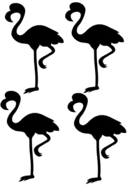 FLAMINGO stickervel middel diy sticker