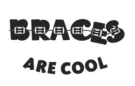 Braces are cool (strijkapplicatie groot)