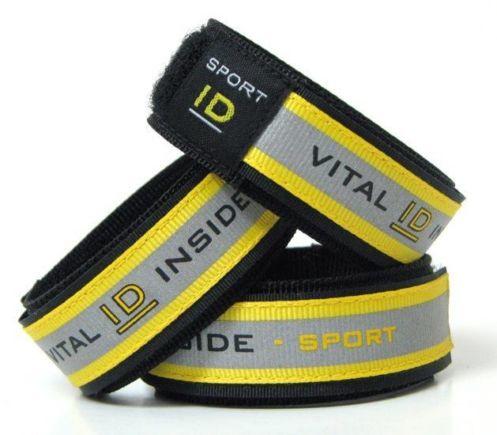 Vital id sport band met reflectie maat s/m geel