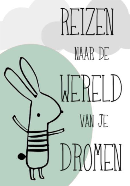 gratis download poster Reizen naar de wereld van je dromen