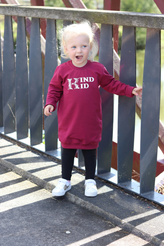 Kind kid sweater dress burgundie