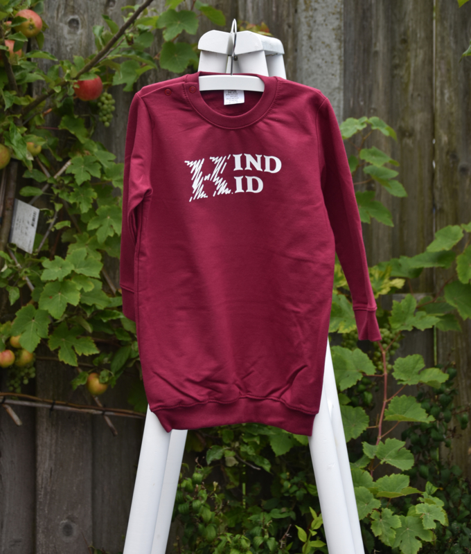Kind kid sweater dress burgundie