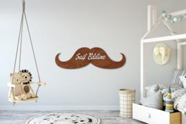Moustache naampaneel