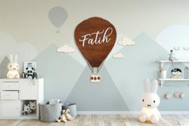 Luchtballon naampaneel