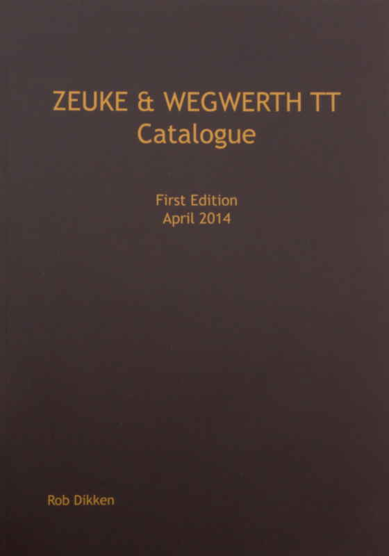 Zeuke & Wegwerth English Catalogue, 182 x 257mm Paperback
