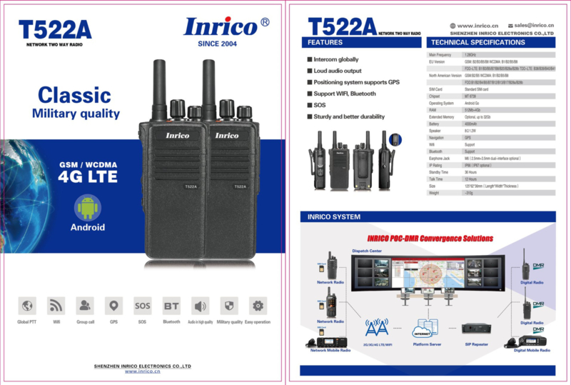 Inrico T522A  4G Voipportofoon