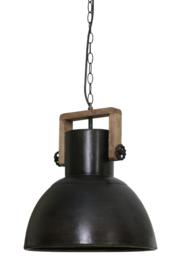 Industriële lamp met  hout 40x45 cm