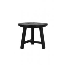Zwart houten tafeltje