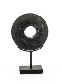 Zwarte steen op standaard S