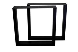 U-model mat zwart stalen poten S/2