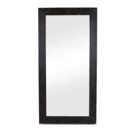 Zwarte houten spiegel 160 x 80 cm