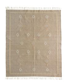 Handgeweven tapijt beige