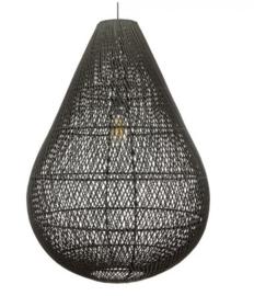 Rotan hanglamp Gota XXL zwart