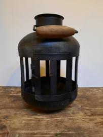 Zwart metalen kaarshouder (35 cm)