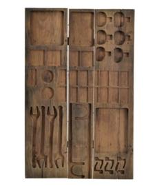 Uniek houten wandpaneel