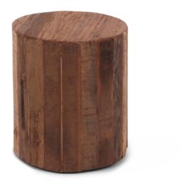 Salontafel oud hout, rond