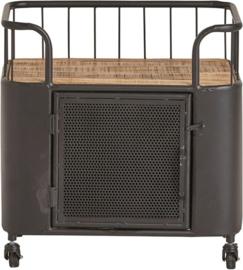 Zwarte trolleytafel met deur