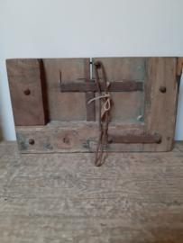 Oud houten deurpaneel