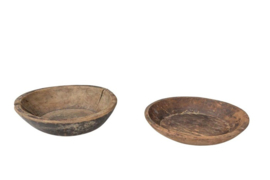Oud houten schalen 40 cm