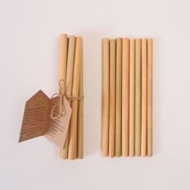 Bamboo straws reusable (prijs per stuk)