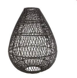 Rotan hanglamp Gota S zwart