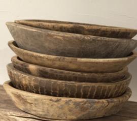 Oude houten schaal uit India