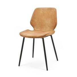 Seashell stoel By Boo cognac