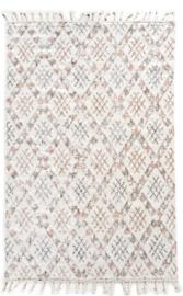 Vloerkleed  wit gekleurd met motief 160 x 230