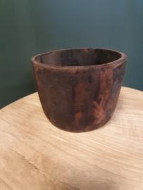 Oude houten potjes