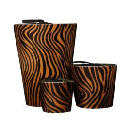 Hairy zebra brown L