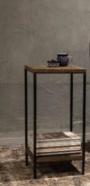 Rustiek houten bijzettafel