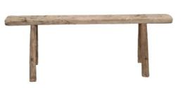 Oud houten bankje