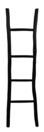 Zwarte houten ladder